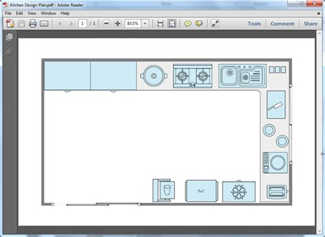 free kitchen plan templates for word powerpoint pdf