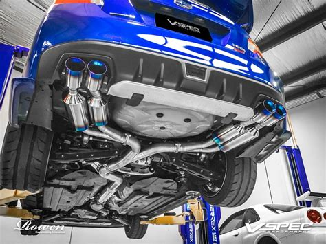 subaru exhausts 2015 subaru wrx sti gets titanium exhaust from rowen