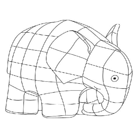 Elmer The Elephant Coloring Pages Page 1 Coloring Page For Elmer Colouring Pages