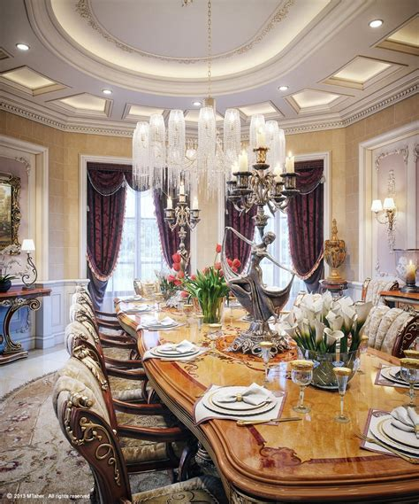 luxurious dining rooms luxury villa dining room