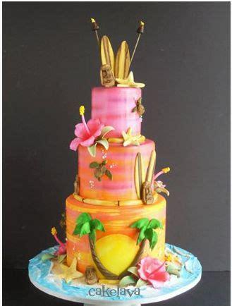 southern blue celebrations tropical luau cakes