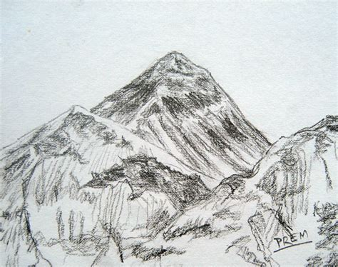 Sketches Mountains by By Prem May 2012
