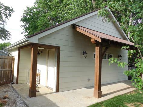 detached garage and workshop addition rustic shed