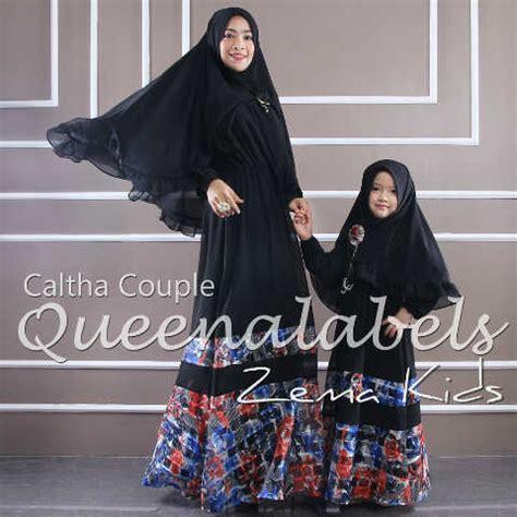 Gamis Pesta Kembaran Ibu Anak 39rayyana39 By Hawwaaiwa caltha 3 hitam baju muslim gamis modern
