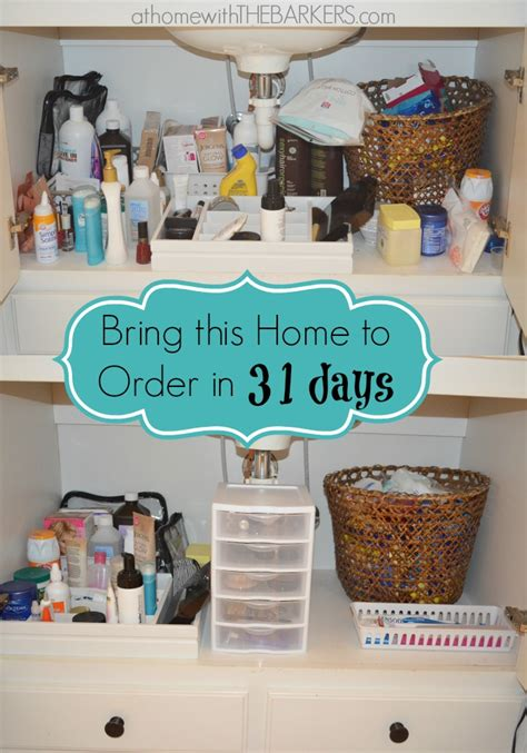 best way to clean up hair in bathroom 31 days under the bathroom sink at home with the barkers