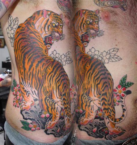 tattoo ribs tiger stewart robson japanese style tattoos