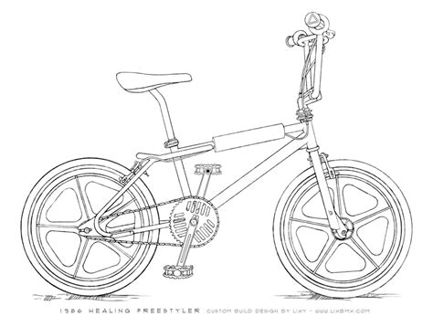 doodle bmx simple bmx bike drawing