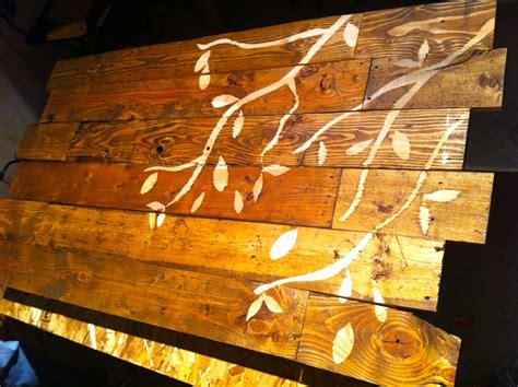 Headboard Wall Sticker pallet headboard little bits of