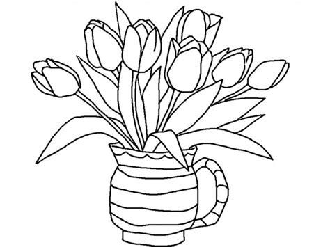 coloriage bouquet de tulipe  la maison dessin gratuit