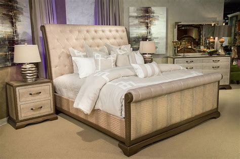 amini bedroom furniture michael amini valise upholstered gator bedroom set