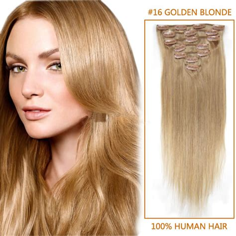 light silky keri hilson straight blonde medium length remy human 24 inch glossy straight clip in remy human hair extensions