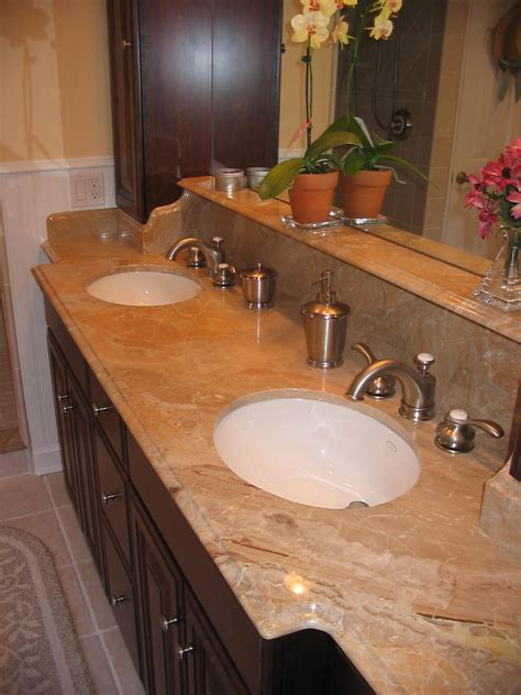 types of bathroom countertops what type of faucet for granite countertop modern types