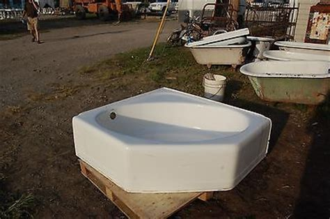 vintage corner bathtub vintage cast iron porcelain corner bath tub art deco style