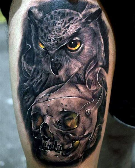 owl tattoos for guys 50 owl skull designs for cool ink ideas