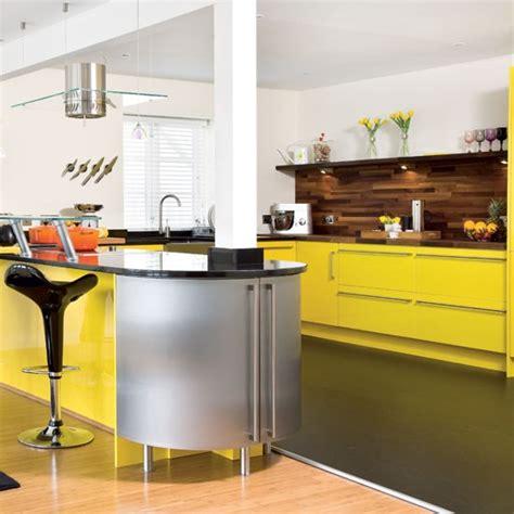 bright yellow kitchen take a tour around a bright yellow kitchen housetohome co uk