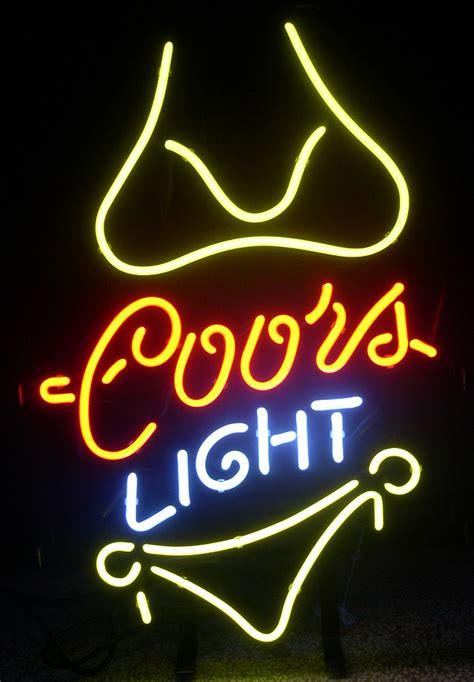 coors light beer sign coors light yellow beer bar neon light sign 17 x