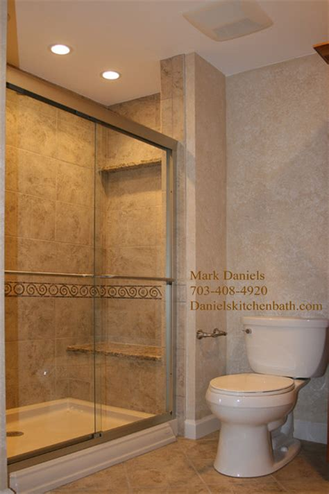 Tile Showers For Small Bathrooms Small Bathroom Ideas Traditional Bathroom Dc Metro By Bathroom Tile Shower Shelves
