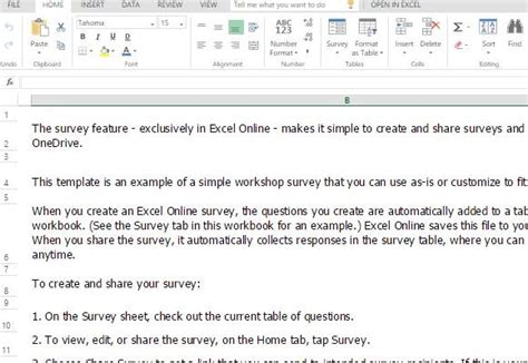 Workshop Survey Form Template For Excel Simple Survey Form Template