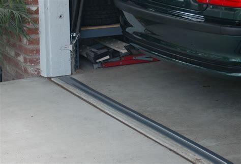 Garage Door On Floor by Garage Door Floor Seal Threshold The Better Garages