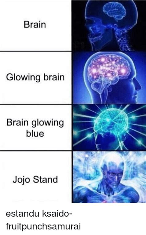 Meme Brain - brain glowing brain brain glowing blue jojo stand estandu