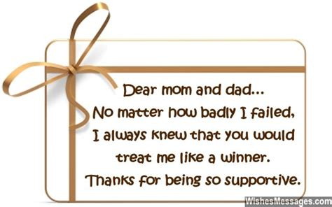 message to parents thank you notes for parents messages for and