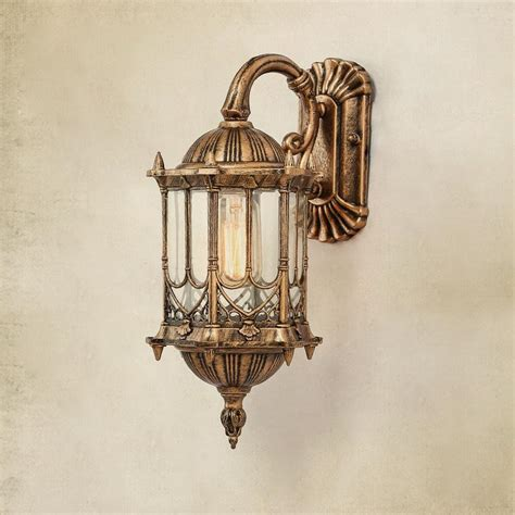 Vintage Wall Sconce Lights Courtyard 1 Pcs Auminum Waterproof Outdoor Wall L Led Retro Antique Glass Wall Sconce
