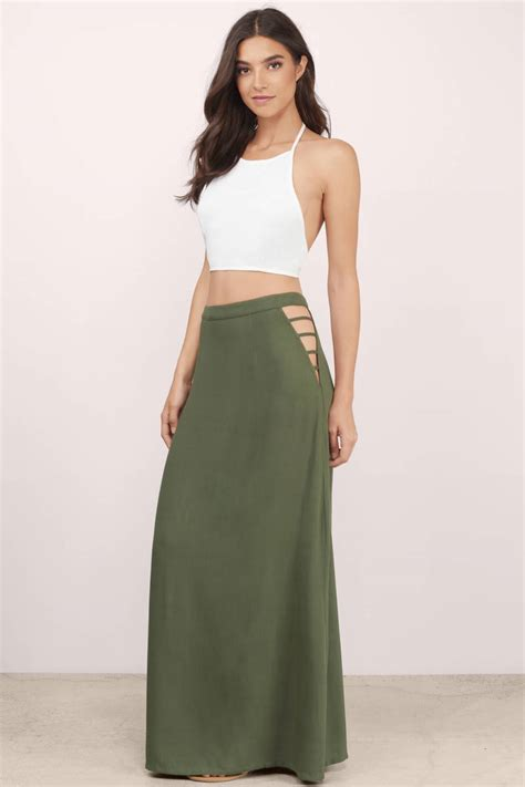 Maxy By into you side maxi skirt tobi