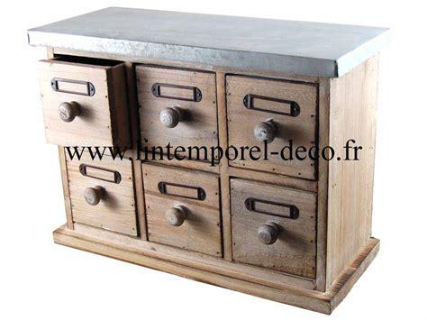petit meuble tiroirs petit meuble mercerie 6 tiroirs bois m 233 tal lintemporel