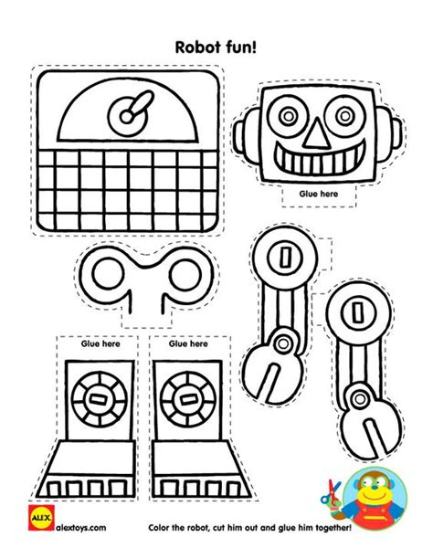 printable paper robot learn about several robot products from alex brands and