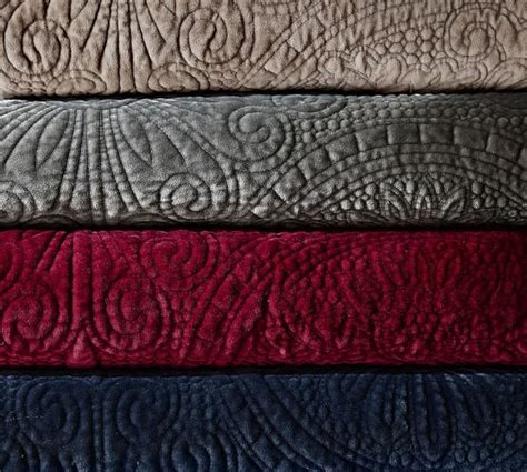 Velvet Quilts And Coverlets Velvet Medallion Quilt Sham Pottery Barn