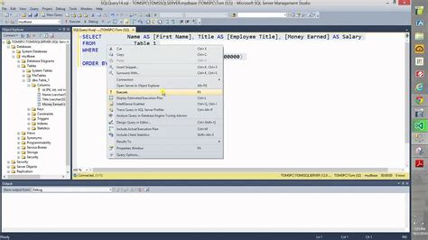 sql query designer tutorial how to use the sql query designer youtube