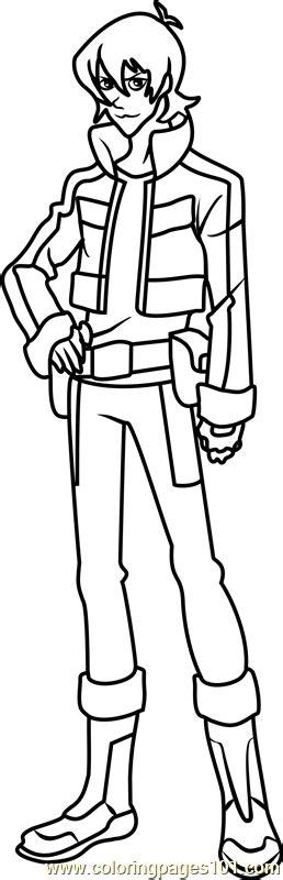 keith coloring page free voltron legendary defender
