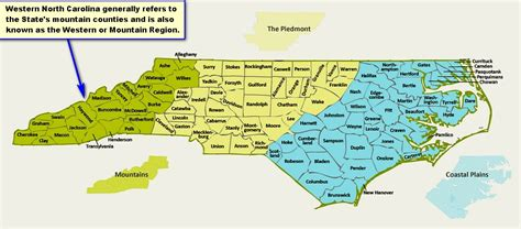map of western carolina history of western carolina