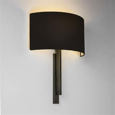 hotel bedroom wall lights modern hotel style wall light in bronze with black shade