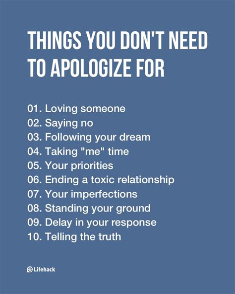 8 Things About You Do Not by Things You Don T Need To Apologize For Though You Think