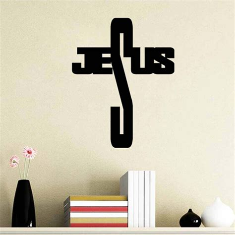 jesus home decor christian jesus cross diy home decor vinyl wall sticker
