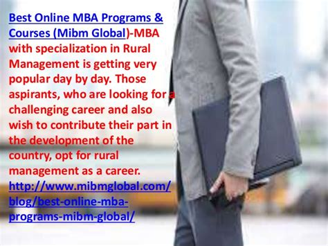 Mba In Rural Management In India by Recognized Courses In India Mibm Global Information