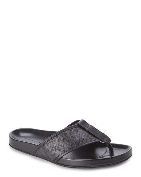 fendi sandals mens fendi black zucca sandals in black for lyst