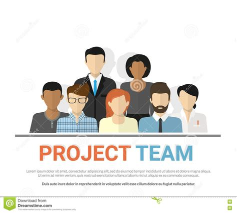 group pattern language project project team avatars stock vector illustration of