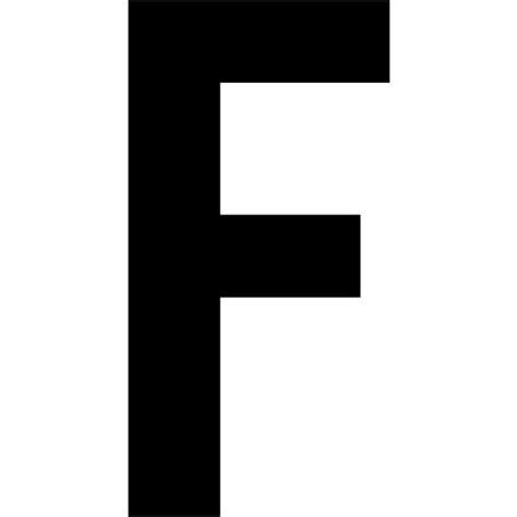 Black Letter F Icon Free Black Letter Icons