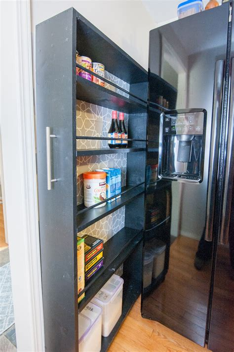 Rolling Kitchen Pantry by The Space Saving Rolling Pantry A Diy Tutorial Zillow Porchlight