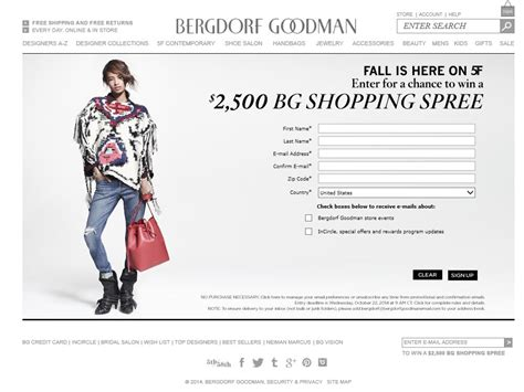 Bergdorf Goodman Gift Card - 2 500 bergdorf goodman promotional gift card sweepstakes