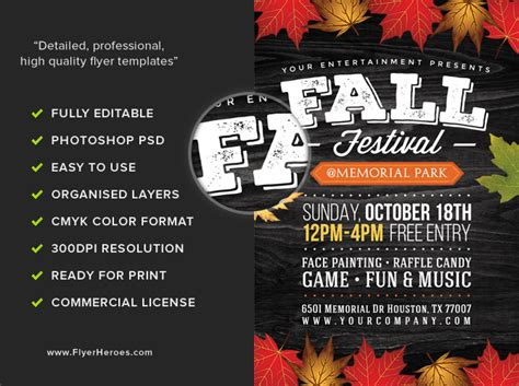 Fall Festival Flyer Template 2 Flyerheroes Fall Festival Invitation Templates