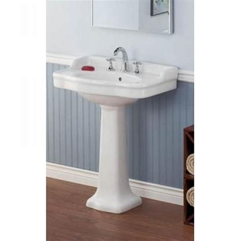 bathroom with pedestal sink cheviot 350 ped wh antique white pedestal base only