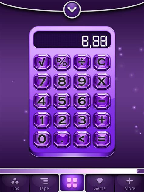grand gems calculator app purple on purple almost endless