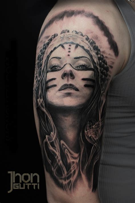 indian woman tattoo trueartists jhon gutti