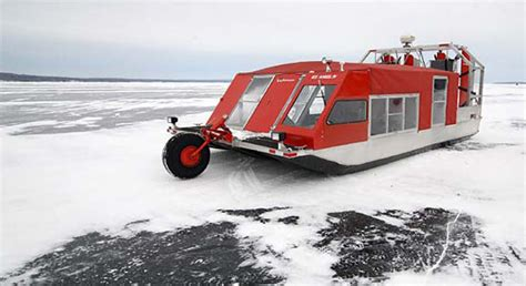 fan boat on ice ice hovercraft school bus is coolest worst news for