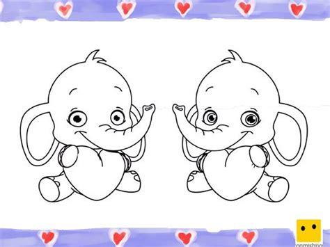 imagenes de amor y amistad infantiles dibujo de elefantes con corazones para ni 241 os