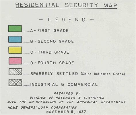 home owner s loan corporation map legend history grand