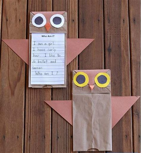 Owl Paper Bag Craft - owl paper bag crafts for allfreekidscrafts